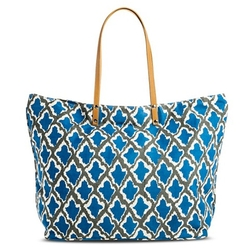 Ikat - Zip Top Beach Tote Handbag