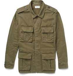 Saint Laurent - Cotton And Linen-Blend Field Jacket