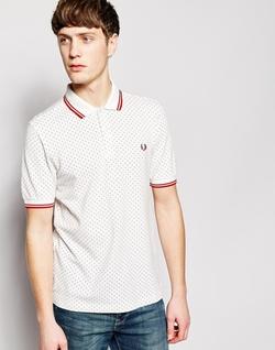Fred Perry - Polka Dot Print Polo Shirt