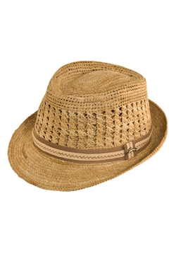 Tommy Bahama - Crochet Raffia Fedora Hat