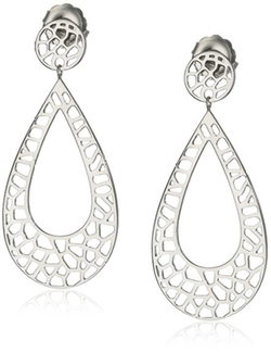 "Ron Hami - ""Lace"" Pear Drop Earrings"