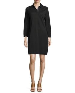 Joan Vass  - Shirttail Pique Dress