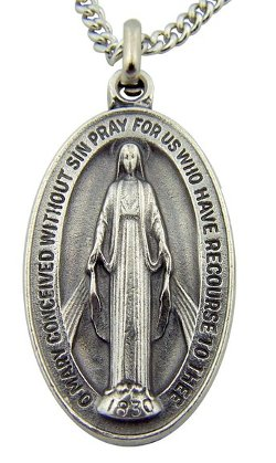 CB - Oval Virgin Mother Mary Madonna Miraculous Medal