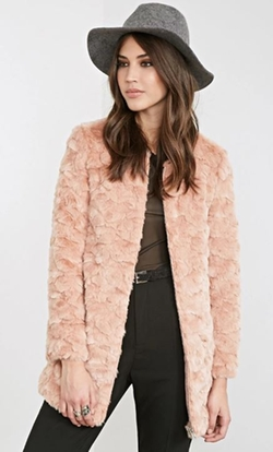 Forever 21 - Textured Faux Fur Coat