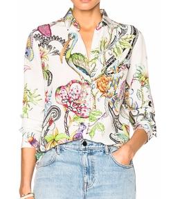 Etro - Printed Boyfit Shirt