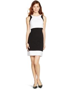 White House Black Market - Sleeveless Colorblock Sheath Dress