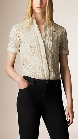 Burberry - Fitted English Lace Shirt