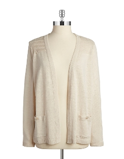 Jones New York - Open Front Knit Cardigan