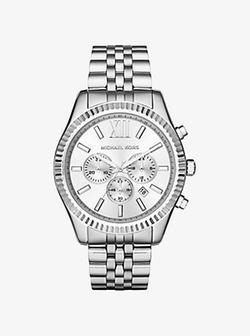 Michael Kors - Lexington Silver-Tone Watch