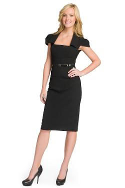 BLACK HALO - Jacket Belted Dress
