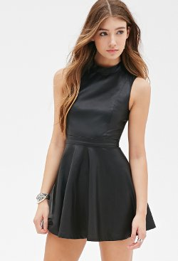 Forever21 - Faux Leather Skater Dress