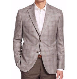 Saks Fifth Avenue Collection  - Plaid Cashmere Blazer