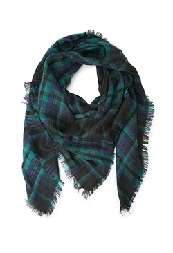 Forever 21 - Frayed Plaid Scarf