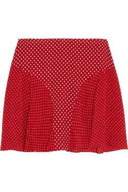 Joseph  - Marina Polka-Dot Silk-Crepe Mini Skirt