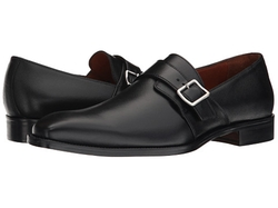 Massimo Matteo  - Saffiano Leather Single Monk Strap Loafers