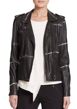 Rebecca Taylor  - Shibori-Print Leather Moto Jacket