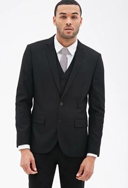 21 Men - Piqué Suit Jacket
