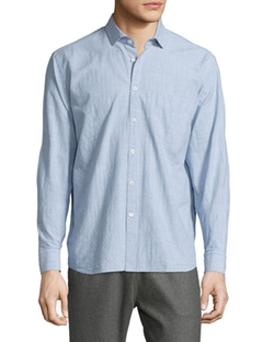 Billy Reid - Textured Long-Sleeve Woven Sport Shirt
