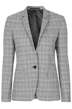 Topshop - Premium Checked Suit Blazer