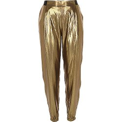 River Island - Gold Metallic Jogger Pants