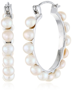 Bella Pearl - Hoop Earrings