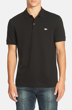 Lacoste - White Croc Regular Fit Piqué Polo Shirt