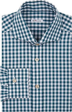 Kiton  - Gingham Dress Shirt