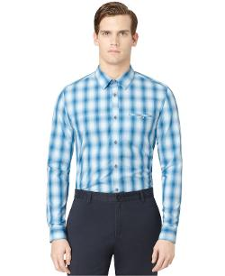 Calvin Klein  - Ombre Grid Plaid Shirt