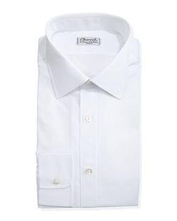 Charvet - Solid Poplin Dress Shirt