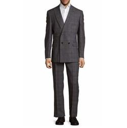English Laundry - Modern Fit Windowpane Double-Breasted Suit