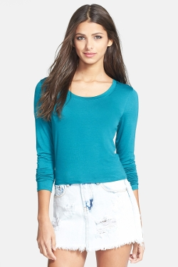 Tildon  - Long Sleeve Crop Tee