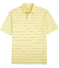 Roundtree & Yorke  - Silky Finish Short-Sleeve Striped Polo Shirt