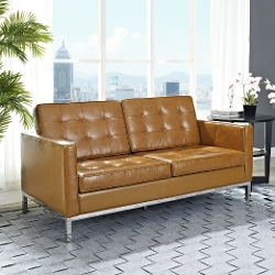 Starsun Depot - Loft Leather Loveseat Sofa