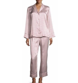 Natori - Fan-Print Satin Pajama Set