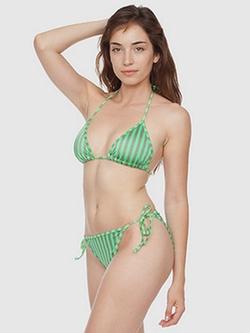 American Apparel - Stripe Print Bikini