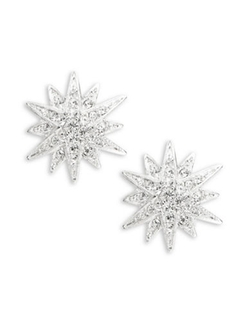 Kenneth Jay Lane  - Star Button Earrings