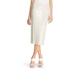 K by Kersh - Sequin Jersey Pencil Skirt