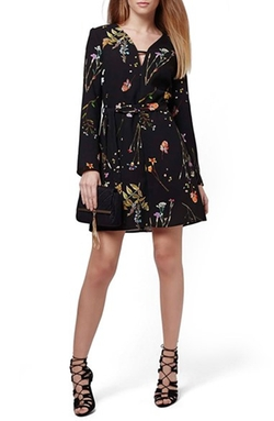Topshop - Belted Floral Tunic Dress