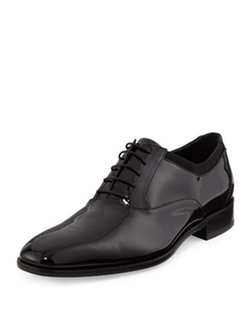 Salvatore Ferragamo  - Aiden Patent Lace-Up Oxford Shoes