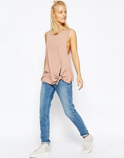 Asos - Knot Front Washed Tank