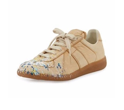 Maison Margiela - Paint Splatter Leather Sneakers