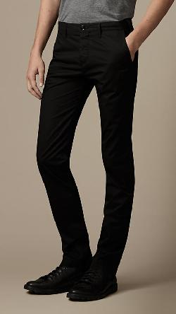 Burberry - SLIM FIT COTTON TWILL CHINOS
