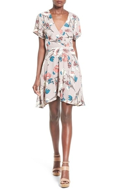 ASTR  - Floral Print Wrap Dress