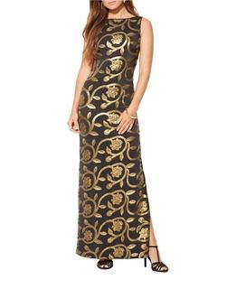 Lauren Ralph Lauren - Sequined Floral Gown