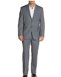 Yves Saint Laurent  - Slim-Fit Two-Button Striped Wool Suit