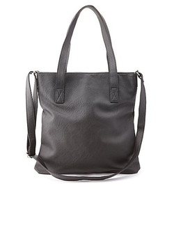 Charlotte Russe - Faux Leather Convertible Tote Bag