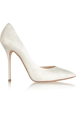 Casadei - Metallic Suede Pumps