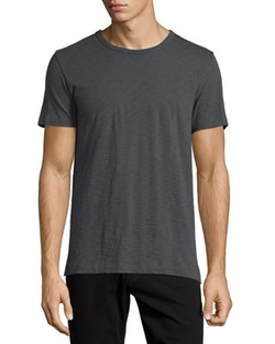 Vince  - Short-Sleeve Slub Knit T-Shirt