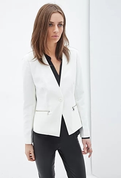 Forever 21 - Zip Pocket Blazer