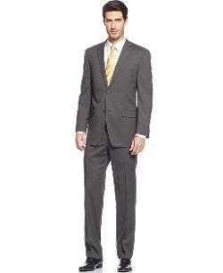 Marc New York by Andrew Marc  - Charcoal Mini Stripe Suit Trim Fit
